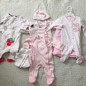 Nordstrom 3 Months Pajama Bundle - Baby Girl